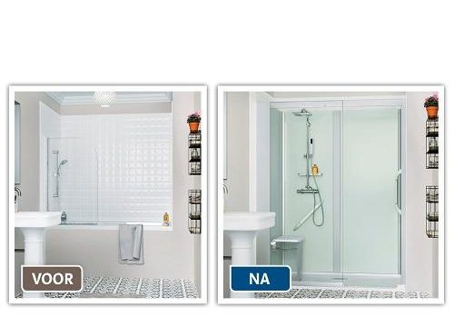 Vervang uw bad door een ruime & veilige douche in 1 dag ...
