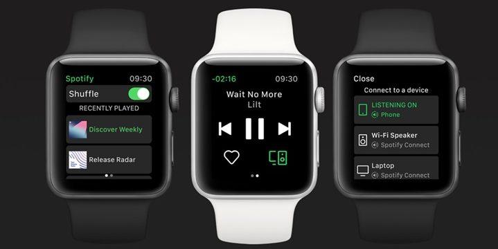 Spotify-app-Apple Watch