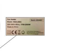 productwaarschuwing-Ventilatorkachel-2000W