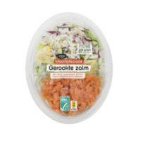 maaltijd salade gerookte zalm