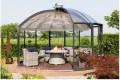 Roterend glazen tuinpaviljoen volgt zon en wind